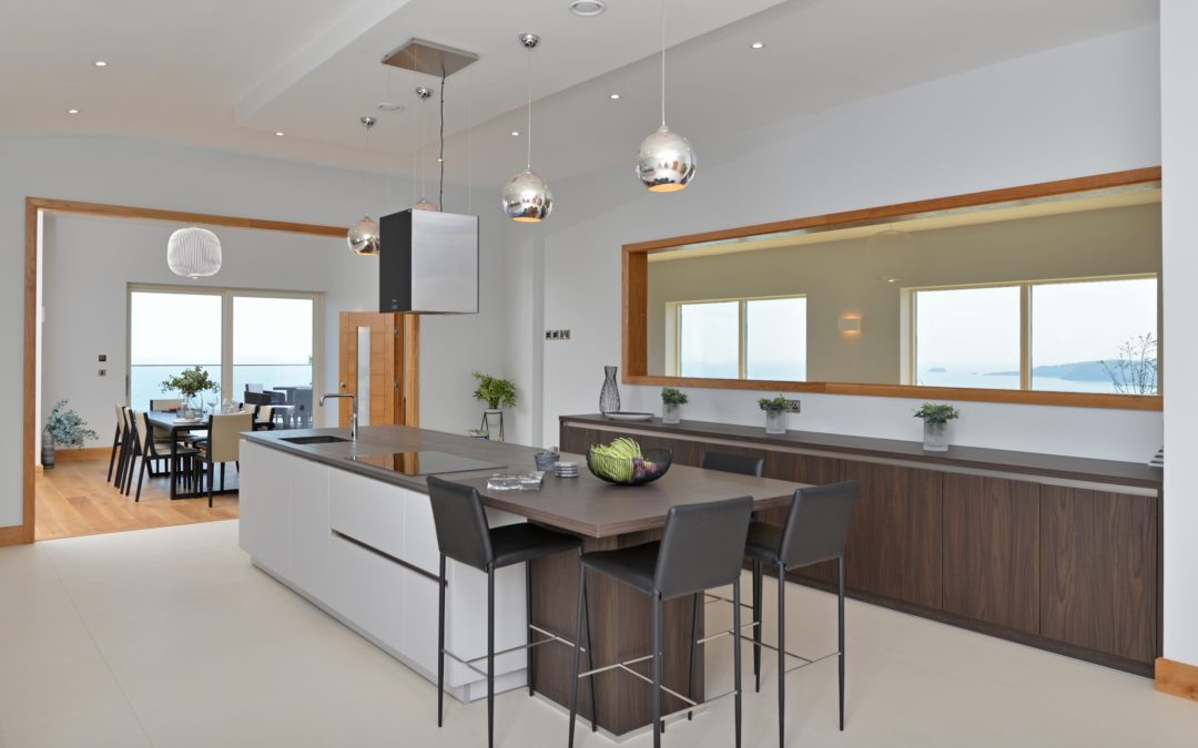 CONTEMPORARY SILK GREY & ESPRESSO MATT OPEN PLAN KITCHEN